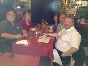 l to r: Gary Namie, Ruth Namie, Kathy Rospenda, DY, and Stale Einarsen