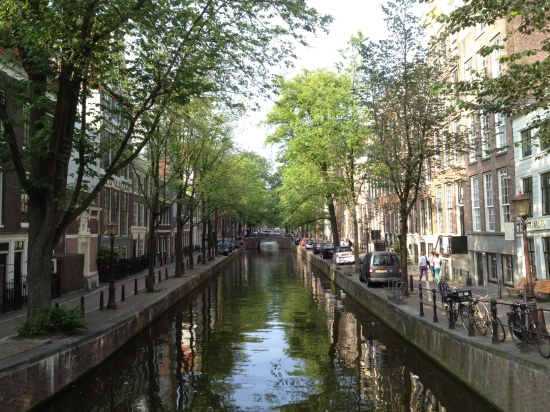 One of Amsterdam's beautiful canals, early evening