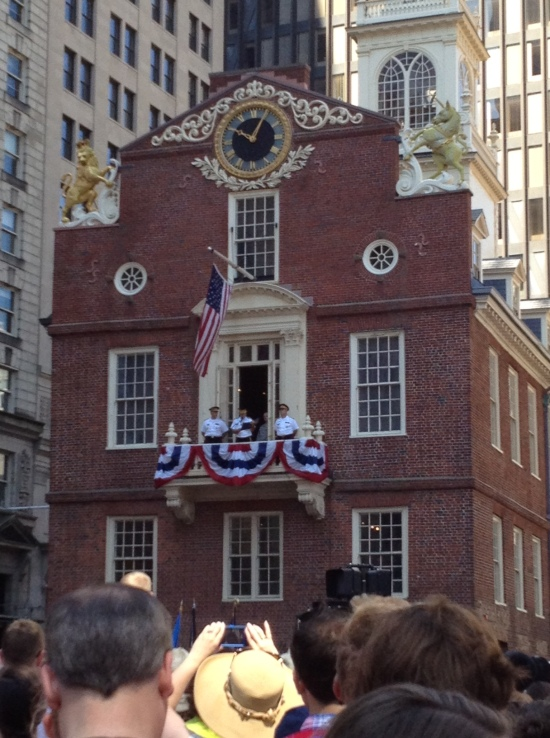 Old State House, Boston, July 4, 2013 -- Reading the Declaration of Independence