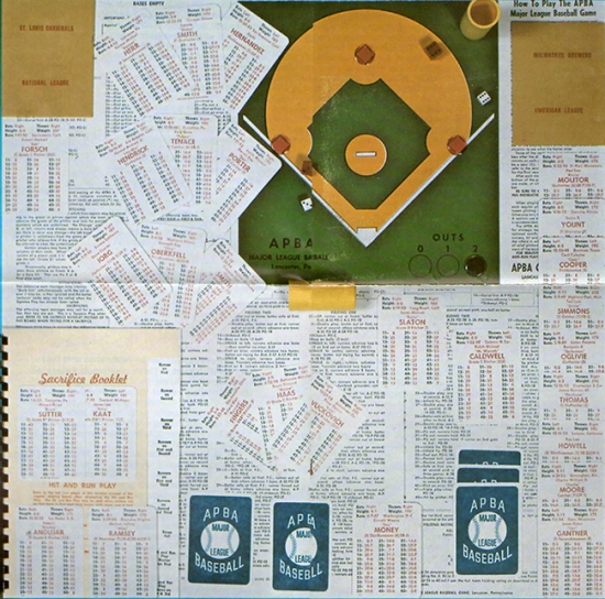 Vintage edition of the APBA baseball game (From apbagames.com)