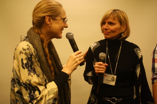 Evelin Lindner, HumanDHS founder, and Linda Hartling, HumanDHS director (photo: Anna Strout)