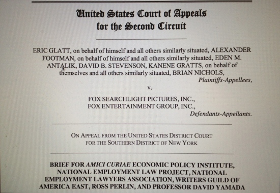 Cover of amicus brief filed by National Employment Law Project