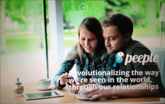 Screenshot of Peeple website