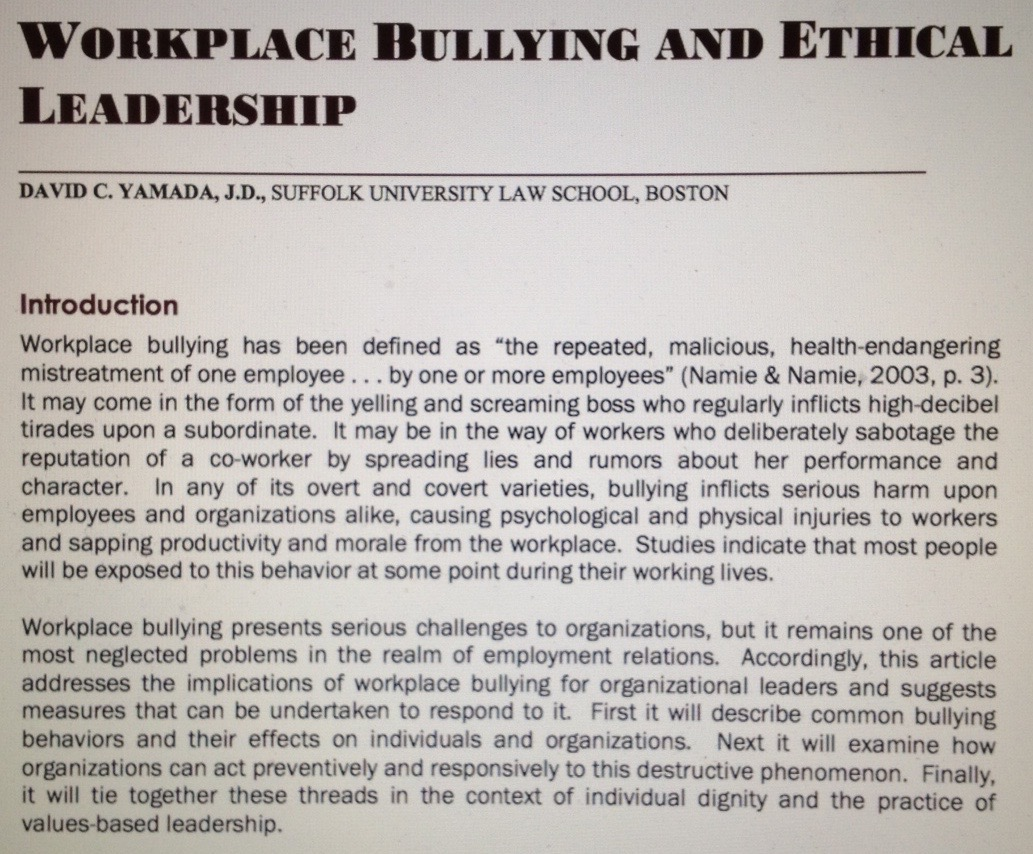 "re ing ""workplace bullying and ethical leadership"" minding  photo 216 2"