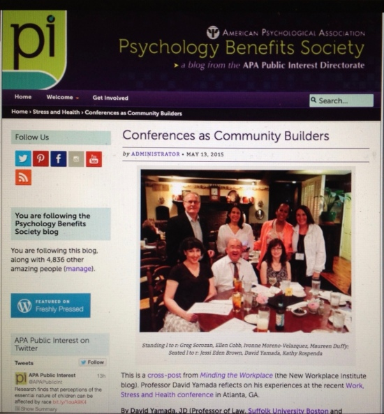 (http://psychologybenefits.org/2015/05/13/conferences-as-community-builders/)