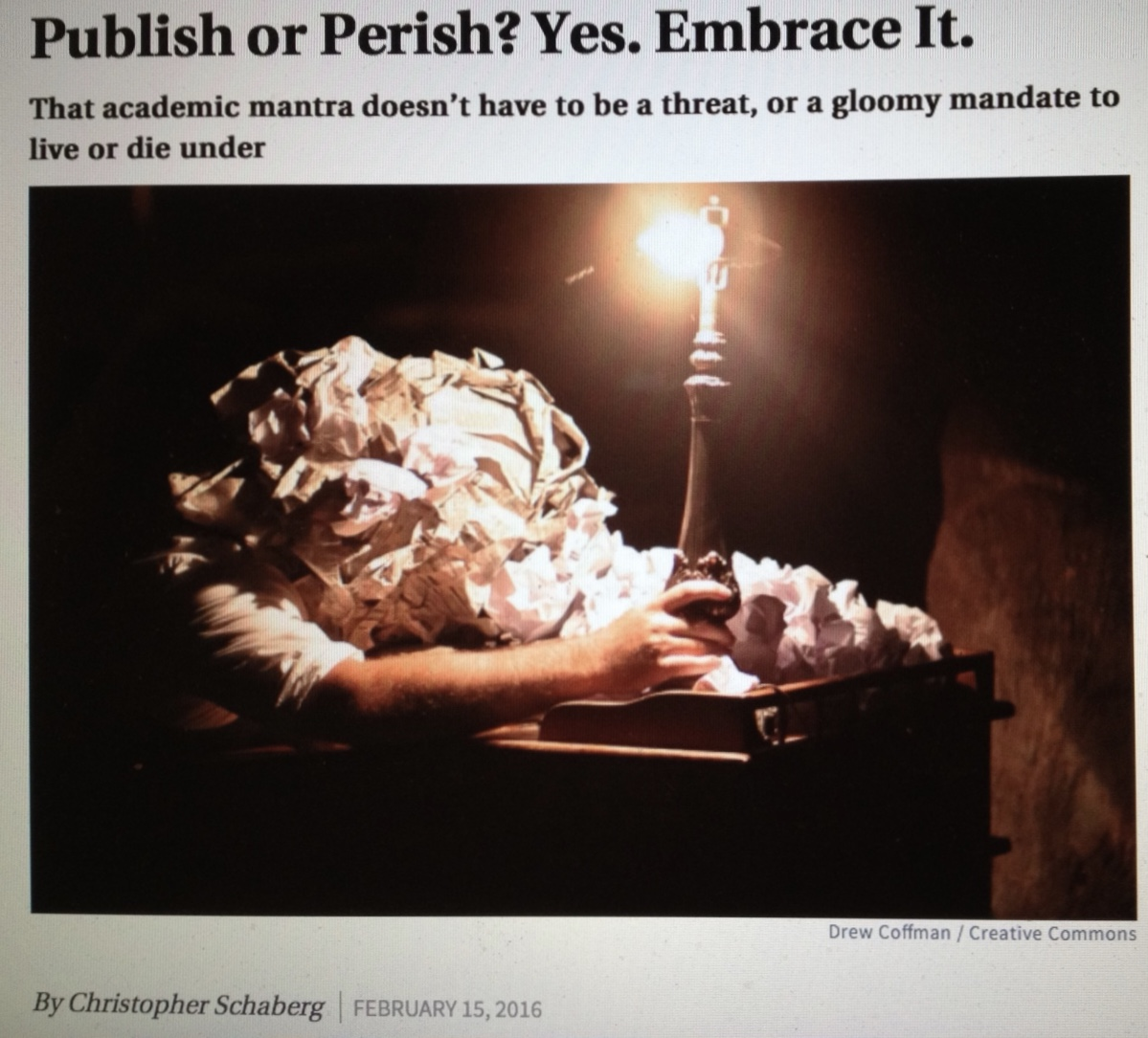 The joys of publish or perish