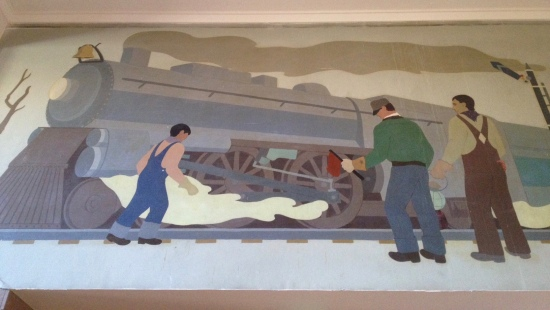 WPA mural inside Law and Justice Center (photo: DY)