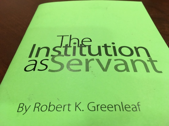 Can institutions be caring servants for a greater good?