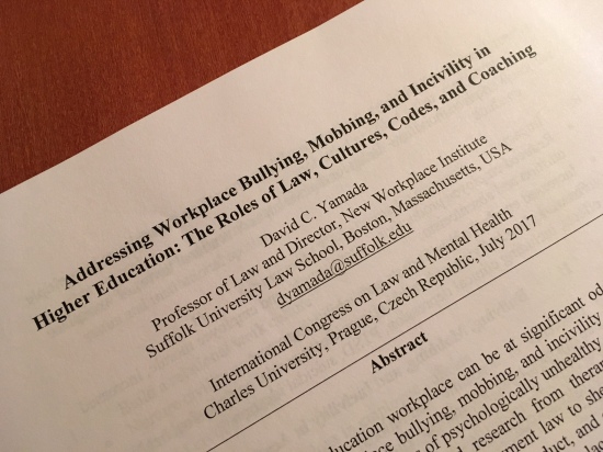 Addressing workplace bullying, mobbing, and incivility in higher education: The roles of law, cultures, codes, and coaching