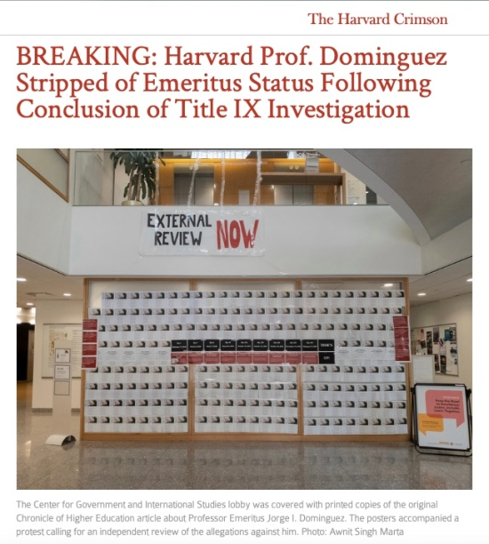 Decades of repeated sexual misconduct complaints finally lead to a resolution at Harvard