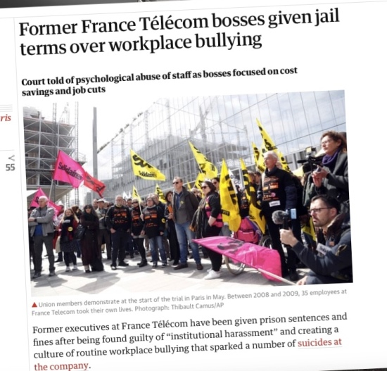 France Télécom bullying verdict: Guilty, with bosses sent to prison
