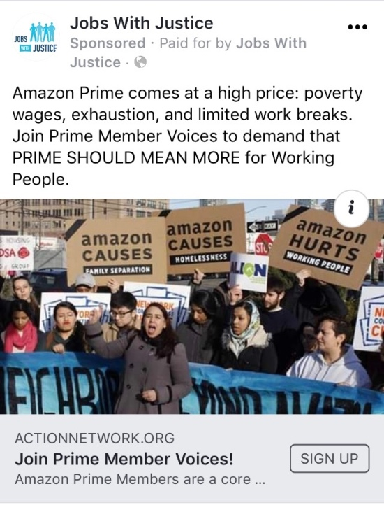 Can Amazon Prime members compel Amazon to treat its workers with greater dignity?