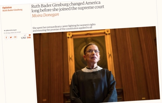 Ruth Bader Ginsburg: Devoted and skilled advocate for equal rights and equal opportunity
